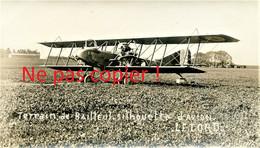 PHOTO FRANCAISE - AVION BIPLAN LETORD AU TERRAIN DE BAILLEUL PRES DE ABBEVILLE SOMME - GUERRE 1914 1918 - 1914-18