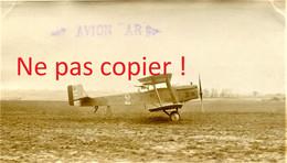 PHOTO FRANCAISE - AVION BIPLAN AR1 DORAND AU TERRAIN DE BAILLEUL PRES ABBEVILLE SOMME - GUERRE 1914 1918 - 1914-18