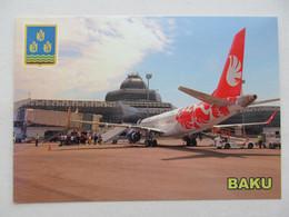 Azerbaijan. Baku Heydar Aliyev International Airport With Airplane - Aerodromes