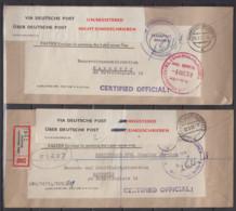 "Bund Hannover-Kleefeld 1950 ""On His Majesty's Service "" 2 Belege Via Deutsche Post An Wasserstrassendirektion Hannover - Covers & Documents"
