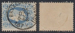 """émission 1869 - N°31 Obl Simple Cercle (DU) """"Bruxelles (Nord)"""" / Collection Spécialisée. - 1869-1883 Leopold II"""