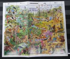 NW0162 1996 MEXICO WILD ANIMALS BIRDS BUTTERFLIES ENDANGERED FAUNA FULL SH MNH - Other
