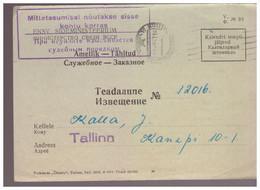 Radioabonent Official Missive,1957,Estland,Estonia - Estonie