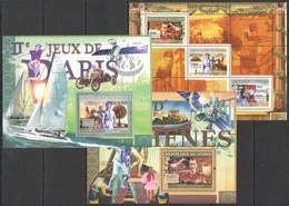 SS970 2007 DE GUINEE SPORT OLYMPIC GAMES PARIS ATHENS ST. LOUIS 1KB+2BL MNH - Zomer 2008: Peking