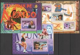 SS973 2007 DE GUINEE SPORT OLYMPIC GAMES MEXICO MUNICH MONTREAL 1KB+2BL MNH - Zomer 2008: Peking