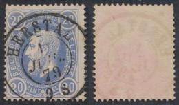 """émission 1869 - N°31 Obl Double Cercle """"Herstal"""" /  Collection Spécialisée - 1869-1883 Leopold II"""