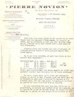 Vieux Papier Des Engrais Pierre Novion à Bayonne, Quai Galuperie, 1929, Marché De Nay, Revendeur Pétrique D'Asson (64) - 1900 – 1949