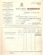 Vieux Papier Des Engrais Novion (ex Heguy) à Bayonne, Quai Galuperie, 1930, Revendeur Pétrique D'Asson (64), Wagon PLM - 1900 – 1949