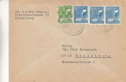 Allemagne - Zone Anglo Américaine - Lettre De 1948 - Oblit Heidelberg - Exp Vers Heidelberg - Zona Anglo-Américan