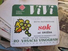 Vrsacki Vinogradi VIVI Bistri Paterizovani Sok Od Grozdja - Unclassified