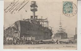 """Marine Militaire Le """"Justice"""" En Achèvement à Flots  Bordeaux ? - Oorlog"""