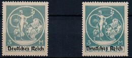 FILATIP DV03(11) D.REICH 1921   134 I + II  * MH   TYPE I  +  TYPE II - Unused Stamps