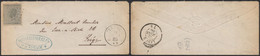 émission 1865 - N°17 Sur Env. Obl Pt 355 çàd Theux (1866) > Liège - 1865-1866 Profile Left