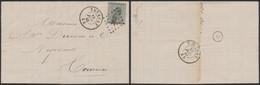 émission 1865 - N°17 Sur LAC Obl Pt 363 çàd Tournay (Manusc. Calonne Maître De Carrières 1868) > Tournai - 1865-1866 Profile Left