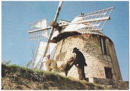 CPM/CPSM - Le Moulin à Vent De LAUTREC - Le Meunier Et Le Paysan Amène Le Grain à Moudre - Lautrec