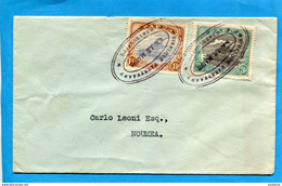 MARCOPHILIE-PAPUA-lettre Cad--NINE LINE -le Maire- Juin 1930+2 Stamps N°59-61- Pour Nlle Calédonie - Papua New Guinea