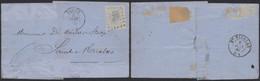 émission 1865 - N°18 Sur LAC Obl Pt 365 çàd Trooz (Manusc. Foret 1869) > St-Nicolas / Etat - - 1865-1866 Profile Left