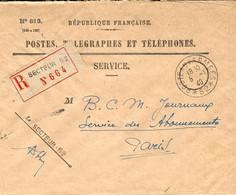 WWII - Enveloppe. RECC. Du Secteur Postal   52 (  9 ème Division D'Infanterie ) - Guerra De 1939-45