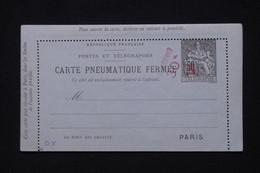 FRANCE - Pneumatique Type Chaplain ( Carte Lettre ) Surchargé Taxe Réduite 30c  Non Circulé - L 92585 - Neumáticos