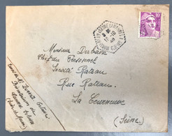 France Marianne De Gandon Sur Enveloppe 18.10.1948 - TAD MONTEREAU (SEINE ET MARNE) C.P. N°2 - (A1113) - 1921-1960: Modern Period