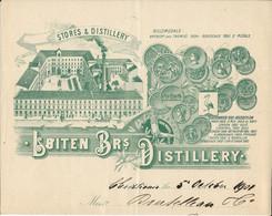 Norvege Norway Norge Oslo Christiana - Stores & Distillery - Entête 1900 - Loiten Brs.Distillery - Andere