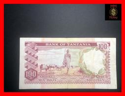 TANZANIA 100 Shillings 1966 P. 4   Masai   **rare**   VF - Tanzania