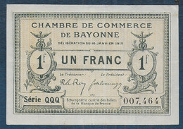 Chambre De Commerce De Bayonne - 1 Franc  - Pirot N° 15 - Chamber Of Commerce