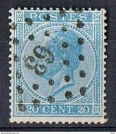 N° 18 20 C Blauw - 63 - 1865-1866 Perfil Izquierdo
