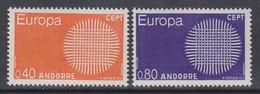 Europa-Andorra 1970 ** Mic: 222+23 / Xz600 - Unused Stamps