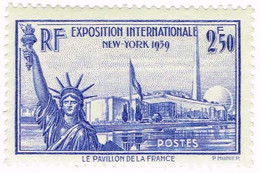 France, N° 458 Exposition Internationale De New York - Neufs