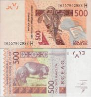 Niger - West African States 2012 - 500 Francs - Pick 619 UNC Letter H - Niger
