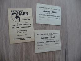 X3 Pub Publicité Bédarieux Hérault Pharmacie Mas + Petro Lahn - Publicités