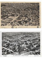 2 Cp CASABLANCA Vues Aériennes 1 Cpa, 1 Cpsm Pf Hôpital Militaire - Casablanca