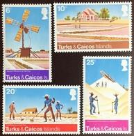 Turks & Caicos 1975 Salt Raking Industry MNH - Turks- En Caicoseilanden
