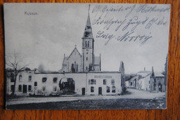 4052/ MUSSON - L'Eglise Et Maisons âbimées Par L'occupation Allemande (8/2/15)envoi Vers Creussen (Ed;Schaar Trier) - Musson