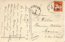 1929- C P A  Affr. 90 Centimes Oblit. ALGER-PORT - Covers & Documents