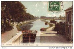 CPA NEVERS Le Canal Et Le Port De La Jonction; écluse - Nevers