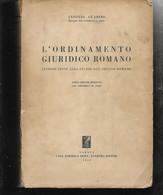 A. GUARINO L'ORDINAMENTO GIURIDICO ROMANO JOVENE 1959 DIRITTO ROMANO BROSSURA - Old Books