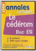 Pour Les Révisions: CD ROM BAC ES ANNALES CORRIGEES 2008 Sous Blister - Other