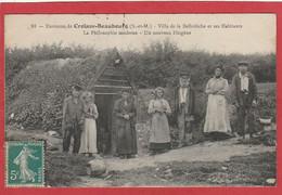 CPA: Environs De Croissy-Beaubourg (77) Villa De La Belledèche Et Ses Habitants - La Philosophie Moderne - Andere Gemeenten