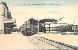 43 Haute LOIRE Trains à Quai En Gare D'ARVANT Carte Colorisée - Autres Communes