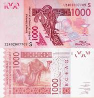 Guinea Bissau - West African States 2003 - 1000 Francs - Pick 915 UNC Letter B - Guinea-Bissau
