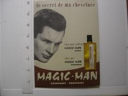 Plaque Alu Carton DECO PUBLICITE Salons De Coiffure Coiffeur Homme MAGIC MAN Plv - Plaques En Tôle (après 1960)