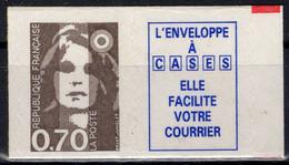 FRANCE 2873a ** MNH Marianne Du Bicentenaire Bord Ondulé Type I Adhésif 0,70 + Vignette (CV 13 €) 1994 - Unused Stamps