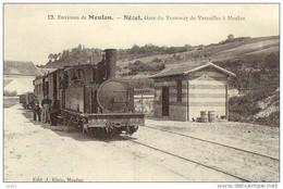 Lot De 3 Cartes Postales GARES Nézel Ré Buxy (REPRO) - Stations - Met Treinen