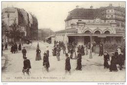 Lot De 3 Cartes Postales GARES Compiègne Paris Plombières (REPRO) - Stations - Zonder Treinen