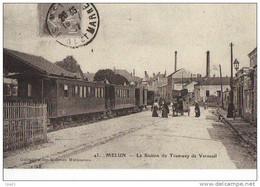 Lot De 3 Cartes Postales GARES Poissons Melun Creil(REPRO) Tramways - Stations - Met Treinen