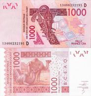 Mali - West African States 2003 - 1000 Francs - Pick 415 UNC Letter D - Mali