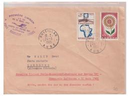 AERO-PHILATELIE -- 3 LETTRES DE PREMIERE LIAISON AERIENNE -- - 1927-1959 Brieven & Documenten