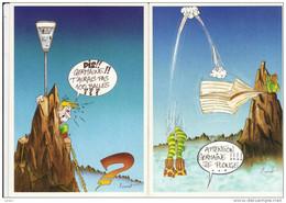 ALPINISME Montagne CPM Série De 6 Cartes Postales Humoristiques De COURAT Neuves Et Différentes - Humour